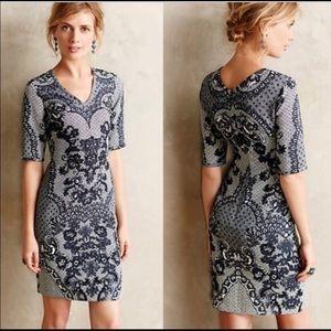 Anthropologie Yoana Baraschi Sketched Lace Dress